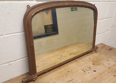 Antique Overmantle Mirror with Lovely Patina - Victorian Overmantle Mirror