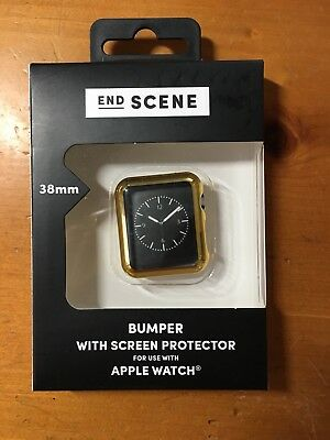 End Scene 38mm Gold Apple Watch Bumper With Screen Protector
