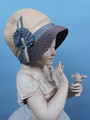 Old Stock Flapper 1920'S Child'S Hat Cloche W Ribbon Trims