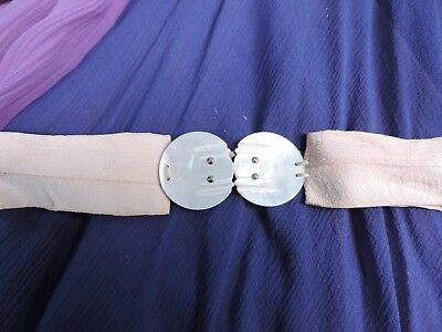 1920'S Small Mother Of Pearl Belt Buckle For Dress