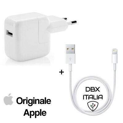 Carica Batteria 12W MD836 e Cavo Lightning MD818 per Apple iPad Originale