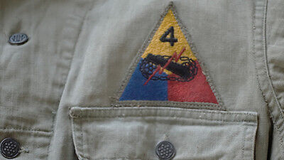 Ww2 Army Tanker's Coveralls -4Th Armored Div -Named Original!