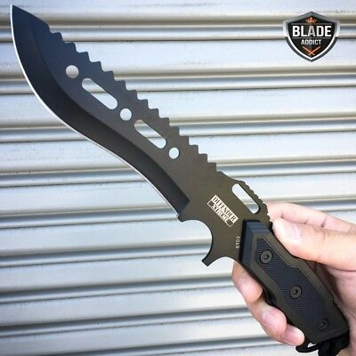 "12"" TACTICAL SURVIVAL Rambo Full Tang FIXED BLADE KNIFE Hunting w/ SHEATH NEW -M"
