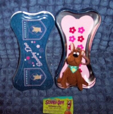 New Collectible Scooby-Doo Collector's Tin W/ Plush Scooby Zipper Pull, Stickers