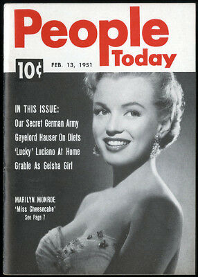 Feb 13 1951 Marilyn Monroe People Today Digest Magazine Rare Early Great Shape