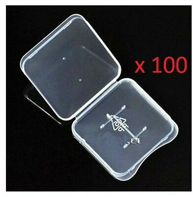 Lot 100 Plastic Case For Micro SD memory card TF fits SanDisk Kingston Samsung