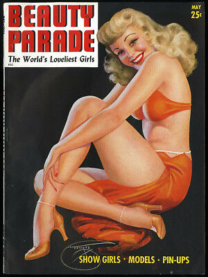May 1944 Pin Up Girlie Magazine Beauty Parade Billy Devorss Carole Landis Risqué