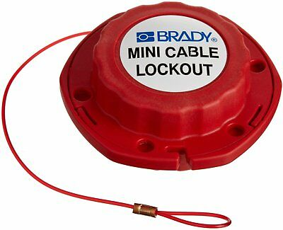 BRADY 50940 Mini Cable Lockout With 8' (2.43m) Sheathed cable NEW