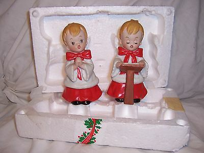 Vintage Christmas Carolers HOMCO Choir Boys 5550 w/ Original Packaging & Labels