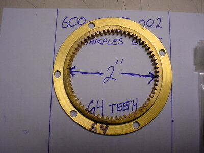Marples Gears 600-0697-002 internal spur gear 43 pitch 64 teeth solid brass