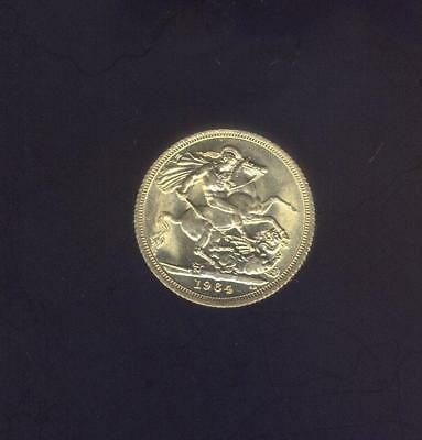England, Choice Uncirculated 1964 Gold Sovereign of Elizabeth II, Free USA Ship.