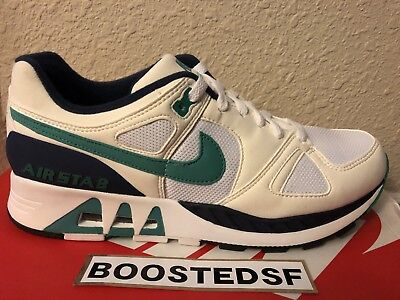 best wholesaler ad6d1 16368 Nike Air Stab Mens Size 10 100% Authentic White Blue Green 9 11 10.5 Roshe
