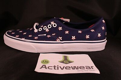 8834e3a5397 NIB VANS Authentic MLB Houston Astros Canvas Casual Navy Skate Shoes Mens SZ  9.5