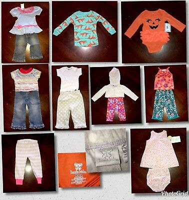 Lot of 15 Pieces Of Baby Girl Clothes Sizes 12 Mos Different Brands (BG07)