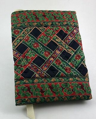 Vera Bradley Book Cover in Noel Coordinate with Indiana Tag