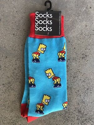 Bart Simpson Socks the simpsons homer marge lisa maggie frank grimes kid robot