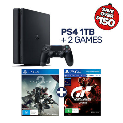 New-Look PlayStation 4 1TB Console + 2 Games - PlayStation 4 - BRAND NEW