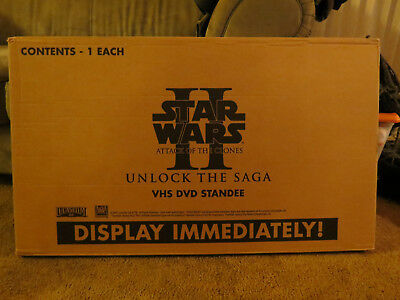 Star Wars Attack of the Clones Yoda Original Video DVD Store Standee Display