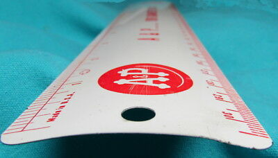 """Vintage Atlantic & Pacific Food Store A & P  Metal 12"""" Ruler 1950s USA Made"""
