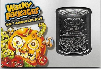 Wacky Packages 2017 50th Anniversary Del Monster Silver Medallion #18 / 50