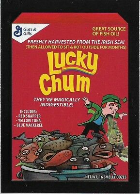 Wacky Packages 2017 50th Anniversary Red Ludlow Lucky Chum # 19 / 25