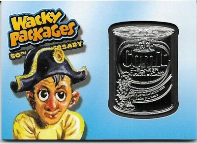 Wacky Packages 2017 50th Anniversary Comit Blue Medallion #10 / 99