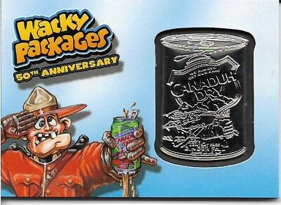 Wacky Packages 2017 50th Anniversary Canaduh Dry Blue Medallion #99 / 99