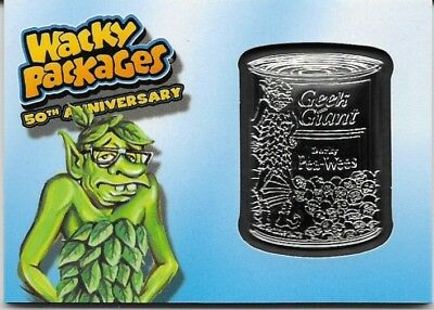 Wacky Packages 2017 50th Anniversary Geek Giant Blue Medallion #79 / 99