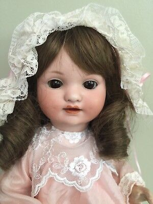 """Antique Bisque Character Doll 285 By Armand Marseilles In A Comp Body 14"""""""