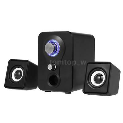 Small Wired Computer Speakers Stereo Deep Bass USB System For Laptop Desktop PC