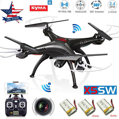 Syma X5SW 2.4G RC Drone WIFI HD Camera FPV Real Time RC Quadcopter Xmas Gifts US