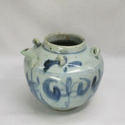 D901: REAL old Vietnamese blue-and-white porcelain pot called AN-NAN