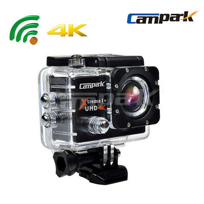 2 Batteries Campark ACT74 WiFi 4K Action Cam Waterproof Sports Camera US STOCK