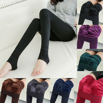 Womens 97/% Cashmere Wool Leggings Pants Thick Winter Warm Skinny Warm Trousers V