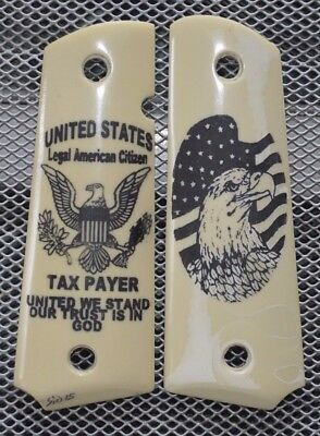 Clearance Sale! 1911/Clones w/Scrimshaw Bald Eagle and American Tax Payer! Nice!