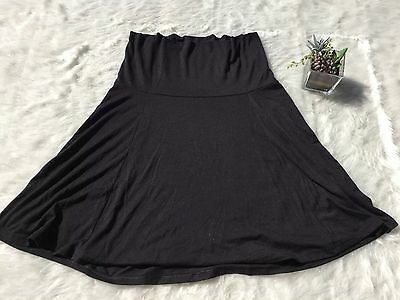 Women's OLD NAVY black Roll-over Maternity skirt Size M for any occasion Summer