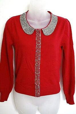 alannah hill red wool 'you little daredevil cardigan'…size 10…vgc...