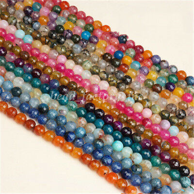 Bulk Facted Cracked Crystal Glass Gemstone Bead Loose Spacer Bead Jewelry Making