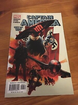 Captain America Issue #6 1st Appearance Winter Soldier 2005