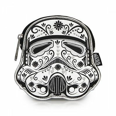 New LOUNGEFLY STAR WARS Storm Trooper White Black COIN BAG Purse Pouch FLORAL