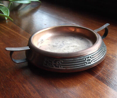 Arts And Crafts Style Copper Ash Tray