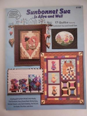 Vtg Sunbonnet Sue is Alive and Well Overall Bill 17 Quilt Designs Patterns Book