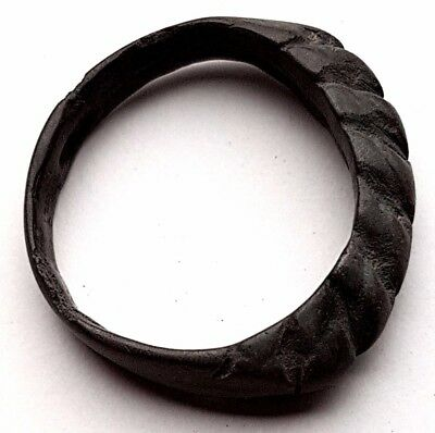 Viking Bronze Twisted Ring Circa 800-900 AD