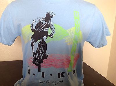 Vintage Mountain Bike T Shirt 50/50 Cotton Poly 1991 BMX