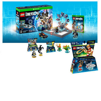 Lego Dimensions Starter Pack Xbox One combo pack with portal and 3 Lego Fun Pack