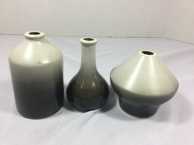 Vintage Centennial Clay Co Stoneware Pottery Bottles Set Of 3 Denver Colorado
