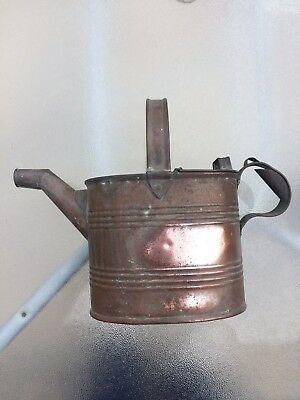 Antique Victorian Copper Watering Can 1850-1899 Superb Item