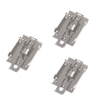 3Pcs 35mm Single-phase Solid State Relay DIN Fixed Rail Mounting Bracket Clamp