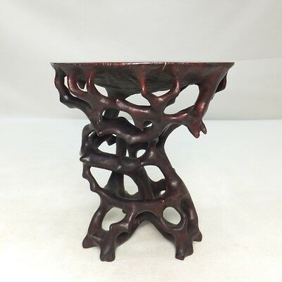 D896: Japanese native wooden decorative stand with very good style of leg