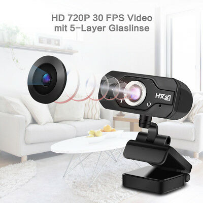 HD 720P Megapixels USB Webcam Camera with 10M MIC for PC Laptop Computer Desktop